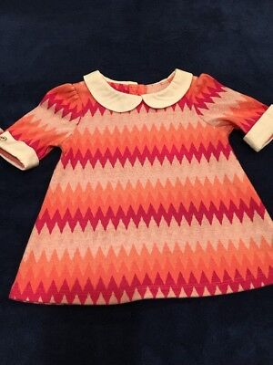 df471944f59b85 Lilly Wicket Dress Girls Sz 12 Months Orange Pink Chevron Collar Designer