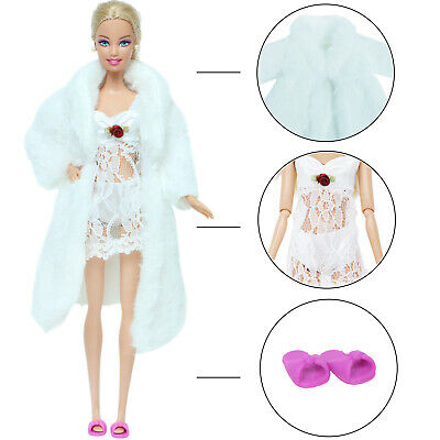 10pcs=5 Outfits + 5 Shoes Dress Blouse Pants Clothes For 12 in. Doll Accessories