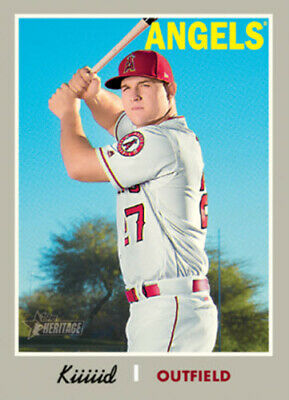 ecb14bb6cb8 2019 Topps Heritage NICKNAME VARIATION 5x7 #/49 MIKE TROUT LOS ANGELES  ANGELS