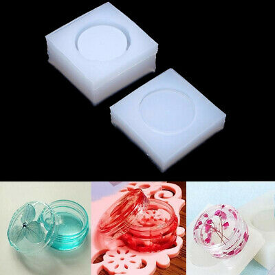 2x Round Silicon Resin Casting Storage Box Mold Jewelry Casting DIY Craft Making