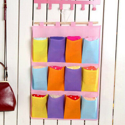 Pockets Non-Woven Hanging Storage Bag Behind Doors Space Saving Space B
