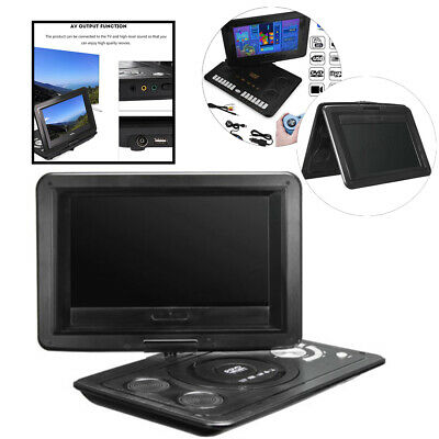 "13.9"" HD TV Portable DVD Player 16:9 LCD 270° Swivel Screen + Remote Control UK"
