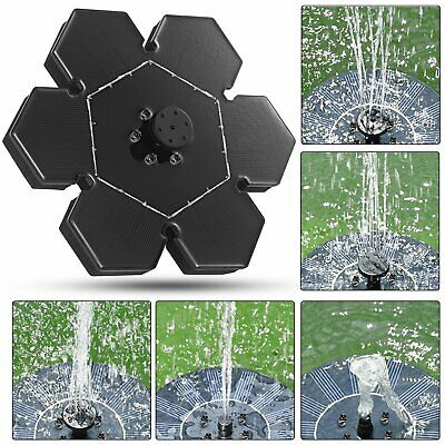 Solar Fountain Submersible Water Pump Power Panel Home Garden Pool Pond 150L/h