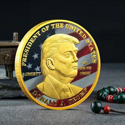 President Donald Trump Inaugural Gold Plated Commemorative Coin Gift for friend