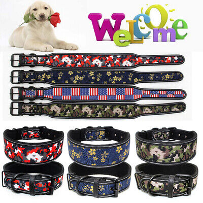 Personalized Dog Collars Leather Pet Collar Name Engraved Free for Dogs S M L