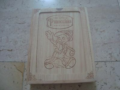 Walt Disney PINOCCHIO *NEW&SEALED* MEGARARE WoodenBox slipcover BLU-RAY Coll Ed