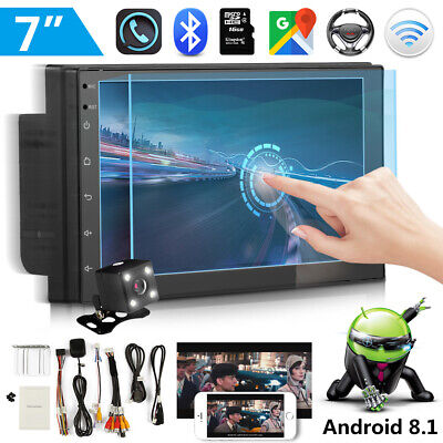 "2 Din 7"" Android 8.1 Car Stereo Sat Nav GPS WIFI MP5 Player AM FM Radio +Camera"
