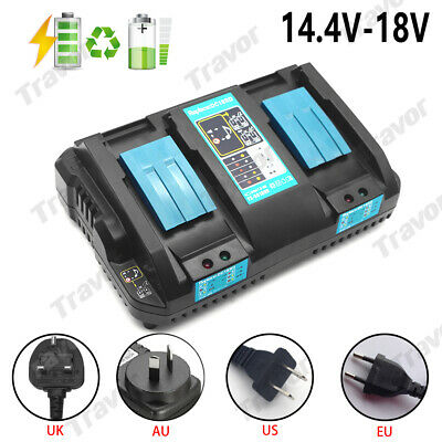 Fast Rapid Battery Charger For Makita DC18RD Li-ion LXT 7.2v-18v Dual Twin Port
