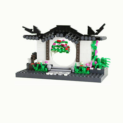 Chinese Ancient Architecture Door Building Blocks Bricks Figures Models Toys