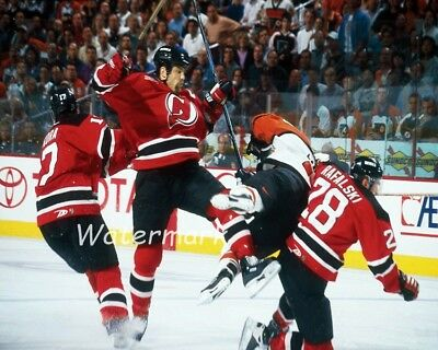 outlet store e30aa d0dd9 NHL NEW JERSEY Devils Scott Stevens Crushing Eric Lindros Color 8 X 10  Photo Pic