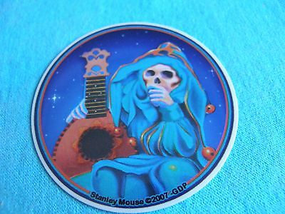 Grateful Dead Stanley Mouse Jester MINI 2.5 Inch Sticker