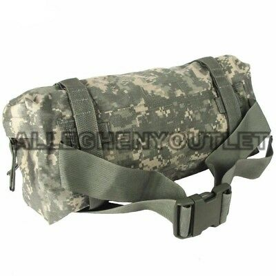 Genuine US Military Molle WAIST PACK Butt Fanny Pouch ACU Camo GOOD CONDITION