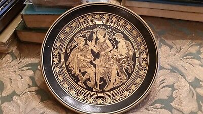 Greek Display Plate from Athens 1985  Hand Painted