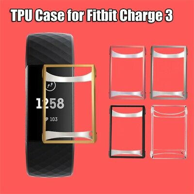 Cover TPU Case Screen Protector Protective Shell For Fitbit Charge 3