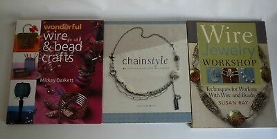 Lot of 3 Wire Chain Bead Jewelry Craft Books, Excellent Condition Great Deal