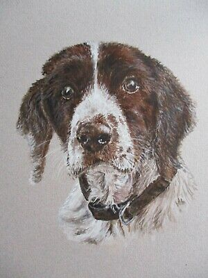 Custom Original Watercolour Pet Portrait from your photo + card, 10 x 12 inches