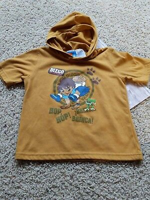 2c74cfb95 Nick Nickelodeon JR. Go Diego Go shirt w  hood animal rescue dora cousin