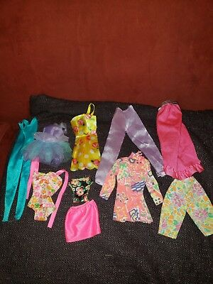 Barbie Clothing Lot Of 10 Vintage Early 90s