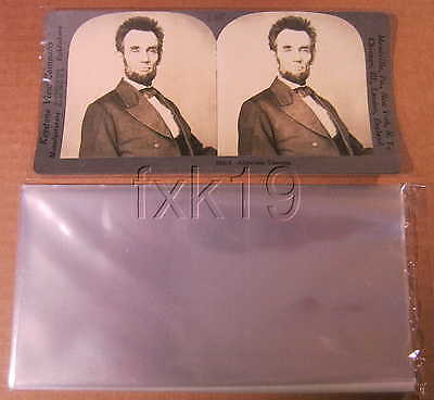 50 STEREOVIEW STEREOGRAPH STEREOSCOPIC SLEEVES ARCHIVAL SAFE 1.5 mil Poly