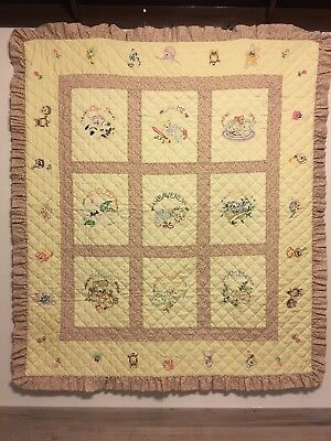 "Handmade Baby Quilt, Prayer ""Now I Lay Me Down To Sleep"", Precious!"