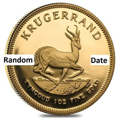 1 oz Gold Coin - South Africa Krugerrand -  Random Year