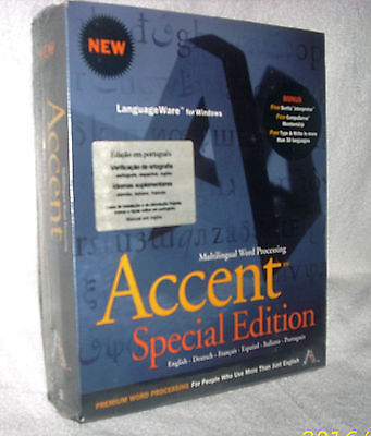 ACCENT SPECIAL EDITION > Multilingual WP for Windows > PREMIUM WORD PROCESSING