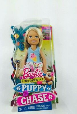 NIB Barbie & Her Sisters in a Puppy Chase Chelsea Doll w/ Camera