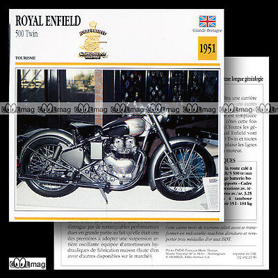 #023.06 ROYAL ENFIELD 500 TWIN 1951 Fiche Moto Classic Motorcycle Card