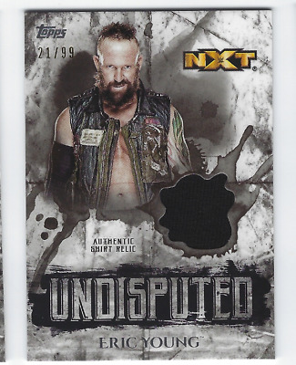 Eric Young 2018 Topps Wwe Undisputed Authentic Shirt Relic /99