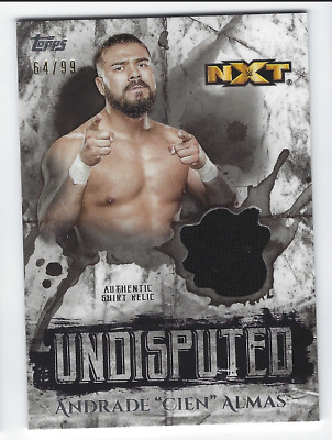 Andrade 'Cien' Almas 2018 Topps Wwe Undisputed Authentic Shirt Relic /99