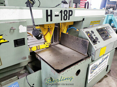 """18"""" x 18"""", Used Hydmech Automatic Dual Post Horizontal Band Saw, Mdl. H-18P, A54"""