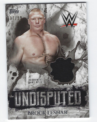 Brock Lesnar 2018 Topps Wwe Undisputed Authentic Shirt Relic /99