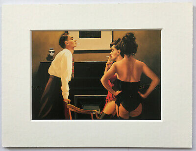 "Jack Vettriano - Master Of Ceremonies -  Rare - Small Mounted Print 8"" x 6"""
