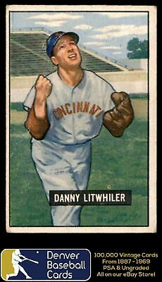 1951 Bowman #179 Danny Litwhiler - Vgex-Very Good/Excellent - 23323373