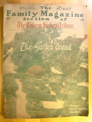 Chicago Sunday Tribune Family Magazine January 28 1912 Garden Annual Washington