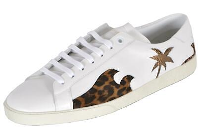 5f251438d614 NEW YSL Yves Saint Laurent Men's Signature Court Classic Palm Tree Sneakers  43