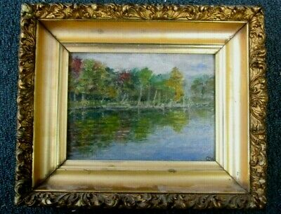 Charles P. Appel Painting Of Wolf Pond Staten Island, Ny Circa 1913. Fine Oil