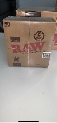 Raw Classic King Size Slim Rolling Papers - Full Box of 50 Packs