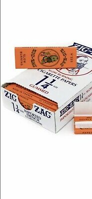 Zig Zag Orange Cigarette Rolling Papers 24 Packs 🔥1 BOX 32 Papers Pack 1 1/4🔥