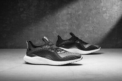 4809018cafd76 NIB ADIDAS ALPHABOUNCE EM Mens BB9043 Black White Gray Running Shoes ...
