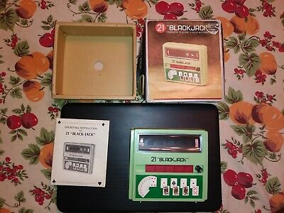 Vintage Original Waco 21 Black Jack Electric Hand Held Game 1972 Complete Electronic, Battery & Wind-up