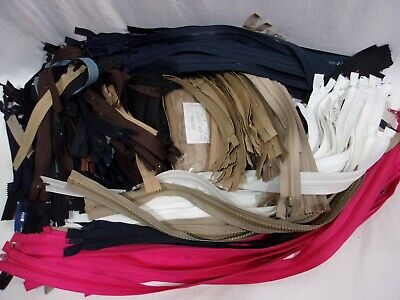 HUGE MIXED LOT Hundreds of ZIPPERS - Over 7 Lbs - NEW, Mostly YKK & Talon