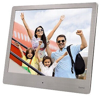 "Hama 118560 00 digital photo frame 20.3 cm (8"") Silver Steel Basic Digital"