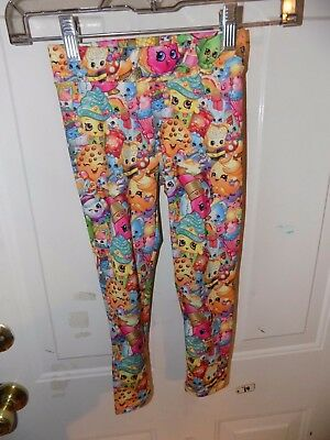 MOOSE Shopkins Character Leggings Size 4 Girl's EUC