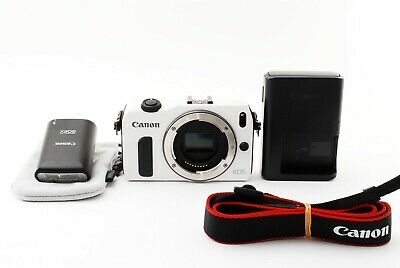 Canon EOS M 18.0MP Digital Camera White body & Flashes EXCELLENT++ japan