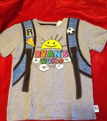 41437107c RYAN'S WORLD BOY'S Graphic Backpack Tee Shirt Size 5/6 shirt ...