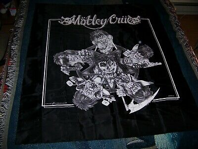 Vintage 1991 MOTLEY CRUE ALLISTER FIEND 40X45 Tapestry Flag Wall Hanging Banner