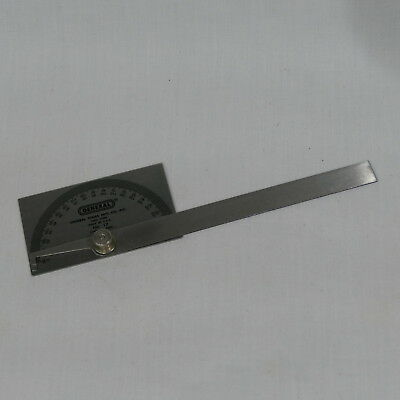 Vintage General Tools No.17 Square Head Protractor Stainless Steel ~ 0 - 180 deg