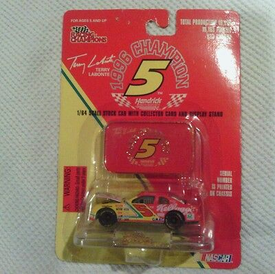 Racing Champions~Nascar~1996~Terry Labonte~Car 1/64 Scale~Red Cast Emblem~In Box