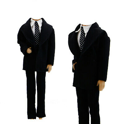 Handmade Tie Suits Tuxedo Groom Outfit Shirt Jacket Clothes For 12 in. Ken Doll